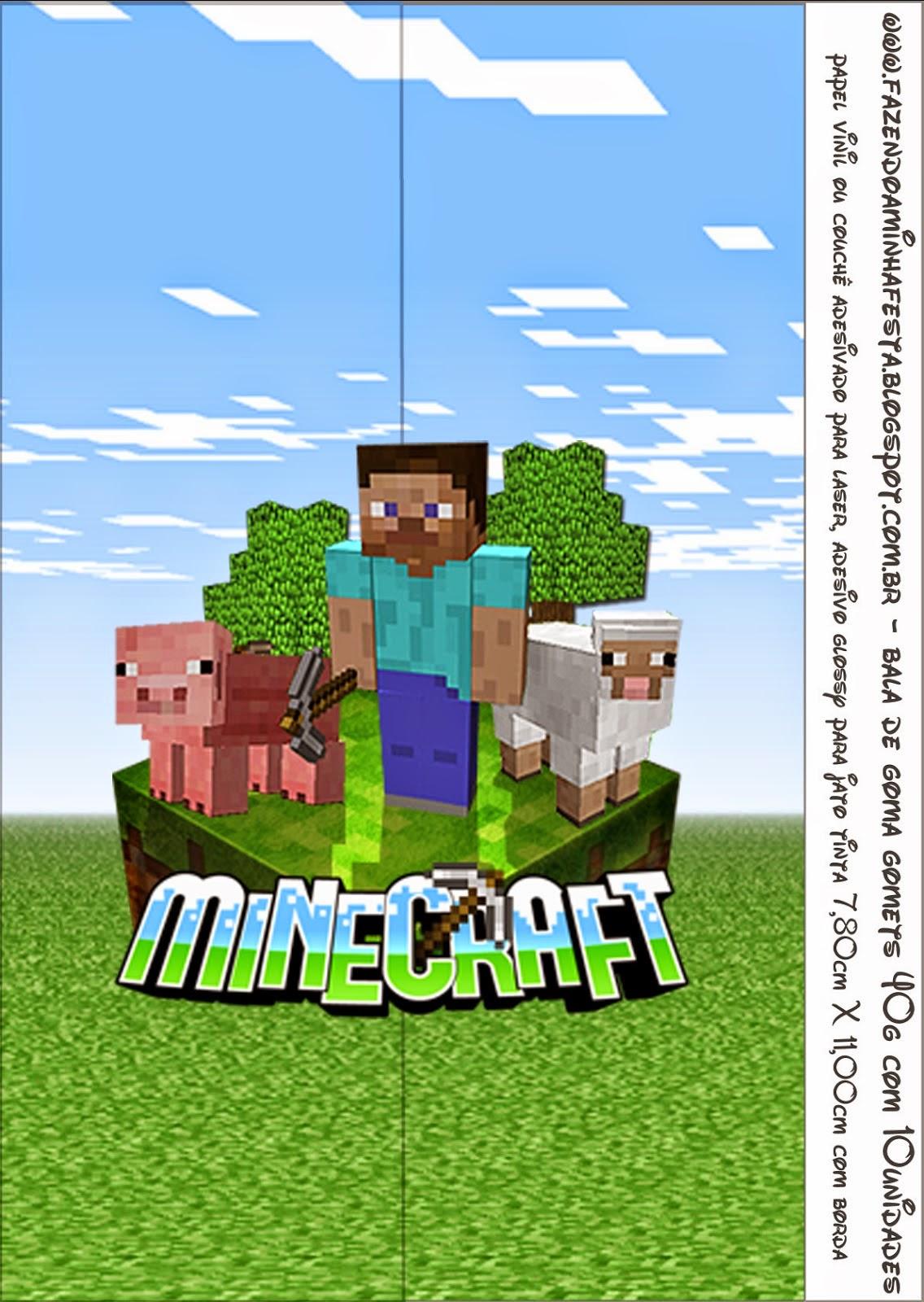 Minecraft Etiquetas Para Candy Bar Para Imprimir Gratis Ideas Y