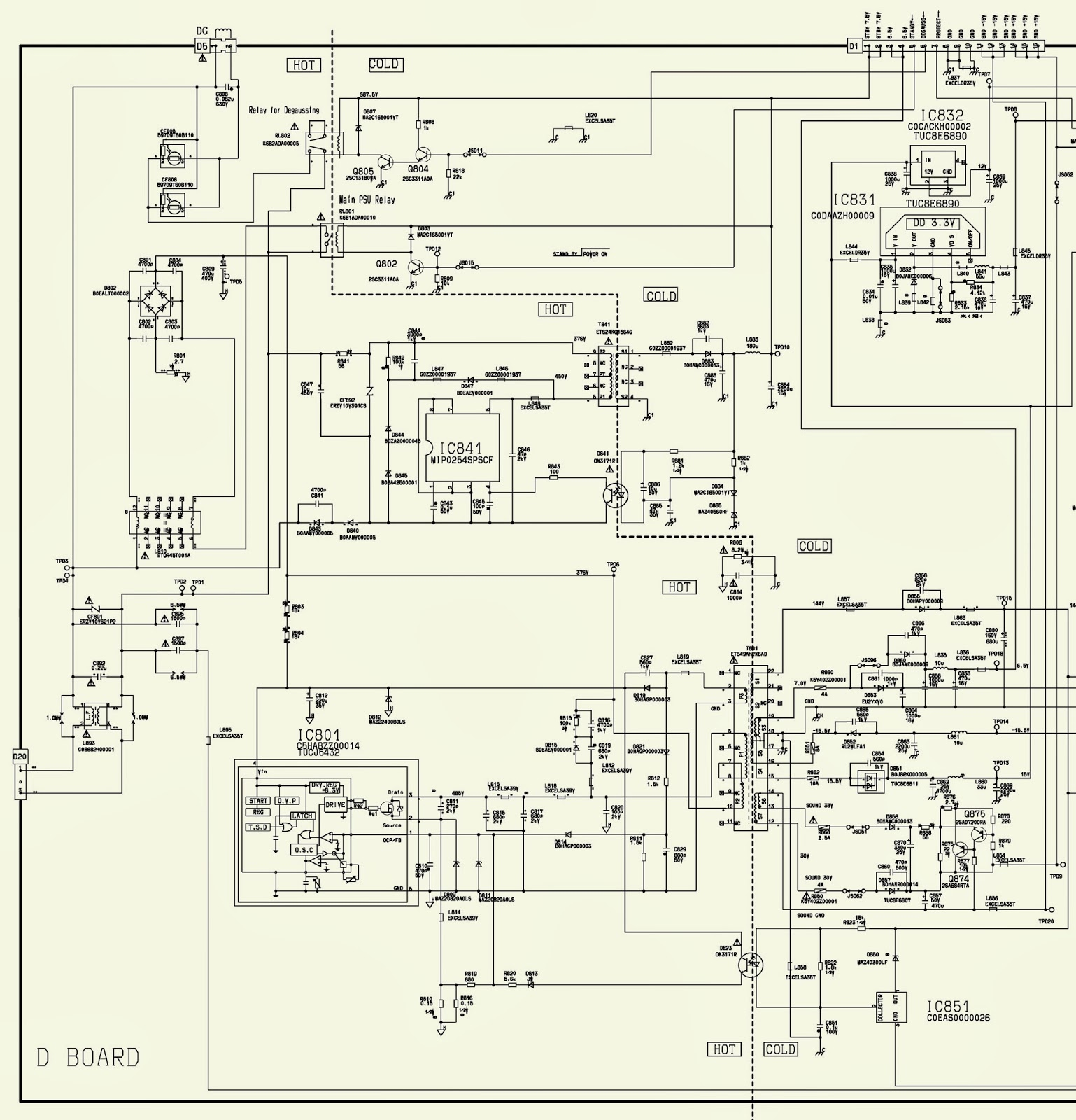 Power Supply Smps Schematic Circuit Diagram Electro Help Wire Center Constant Current Source Using Bg602 Free Electronic Circuits Panasonic Tx 32pd30 36pd30 Rh Electronicshelponline Blogspot Com