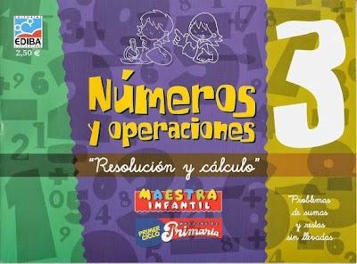"""""""Números y Operaciones 3"""" de Ediba."""