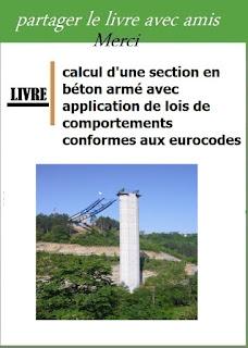 calcul d'une section en  béton armé avec application de lois de comportements conformes aux eurocodes
