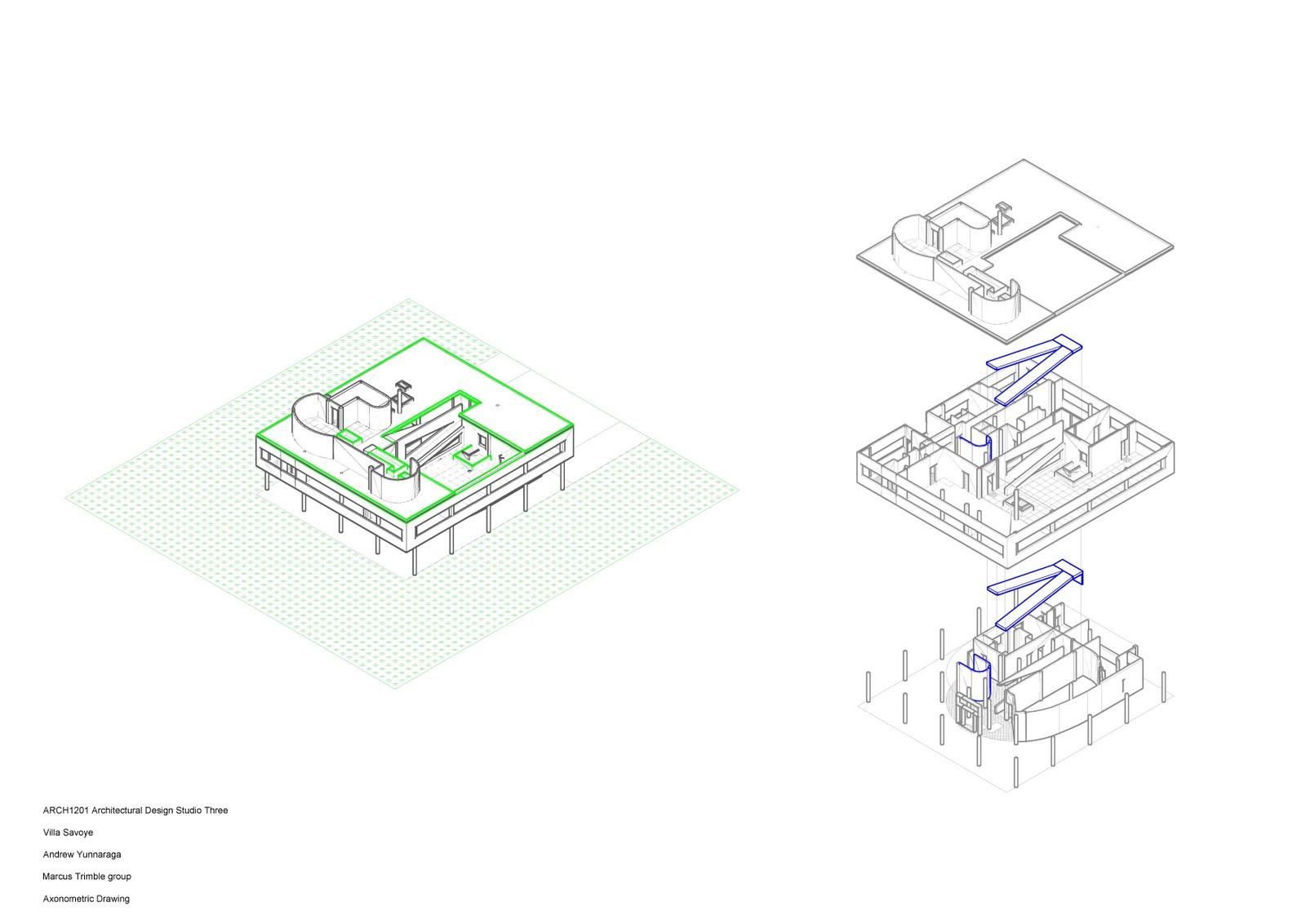 Villa Savoye Floor Plan Arch 1201 Architectural Design Studio 3 Project 1 Drawing