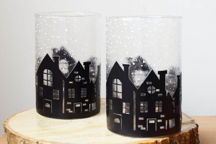 cylinder vase christmas