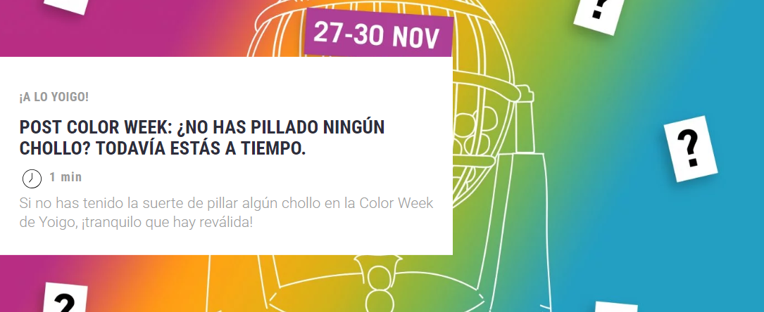 último día post color week yoigo