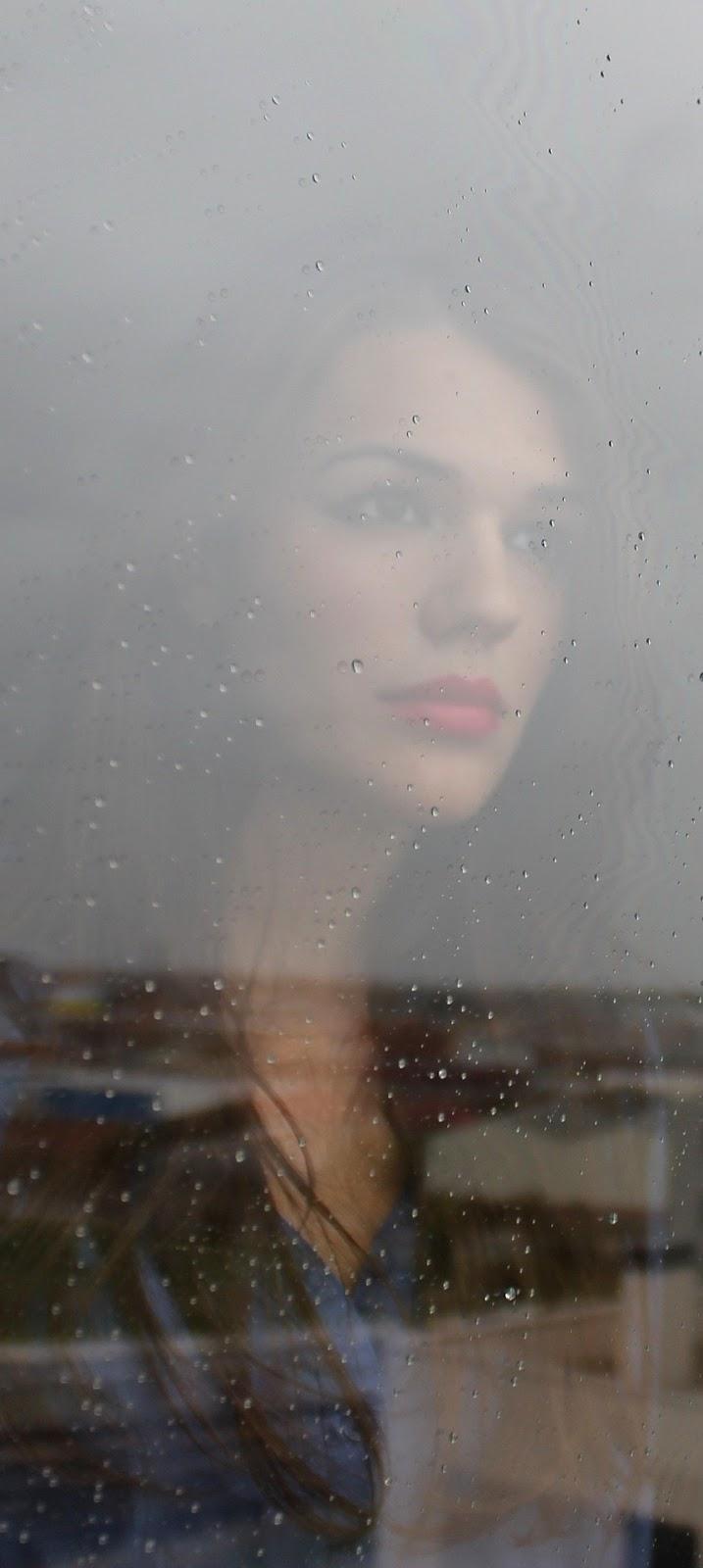 Woman rain.