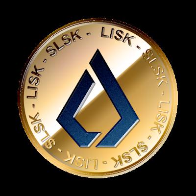 リスク(Lisk / $LSK)新ロゴverのフリー素材(金貨青ver)