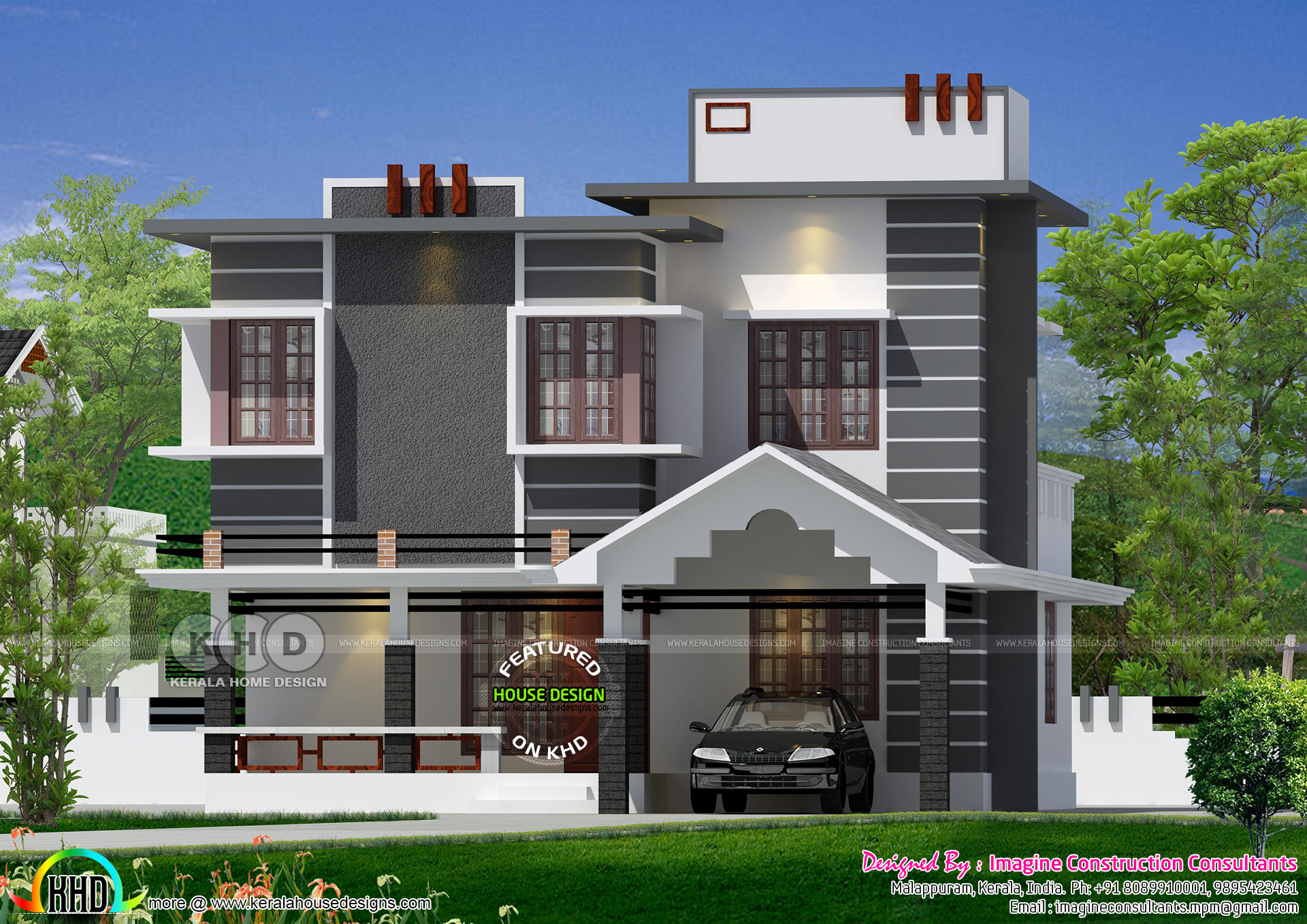 1590 Sq Ft Ultra Modern Villa Plan Kerala Home Design