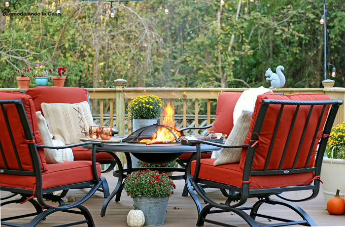 Ideal In the evenings you can find us here The cooler Fall air is the perfect excuse to set the fire pit