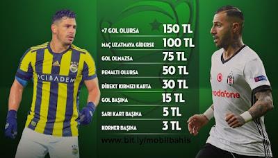 Fenerbahçe-Beşiktaş Kupa Derbisi Bonusları