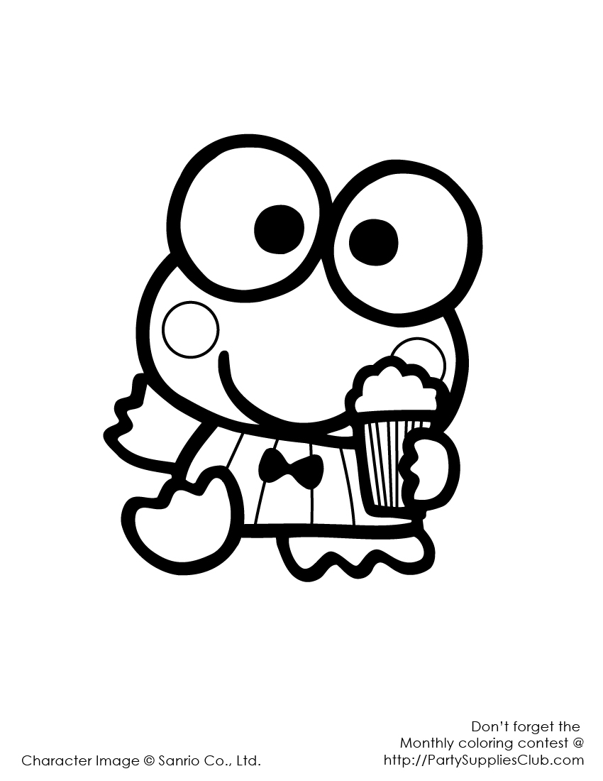 Download Cartoons Coloring Pages: Keroppi Coloring Pages