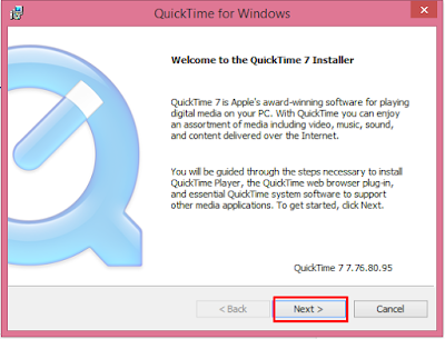 menginstal codec apple quicktime