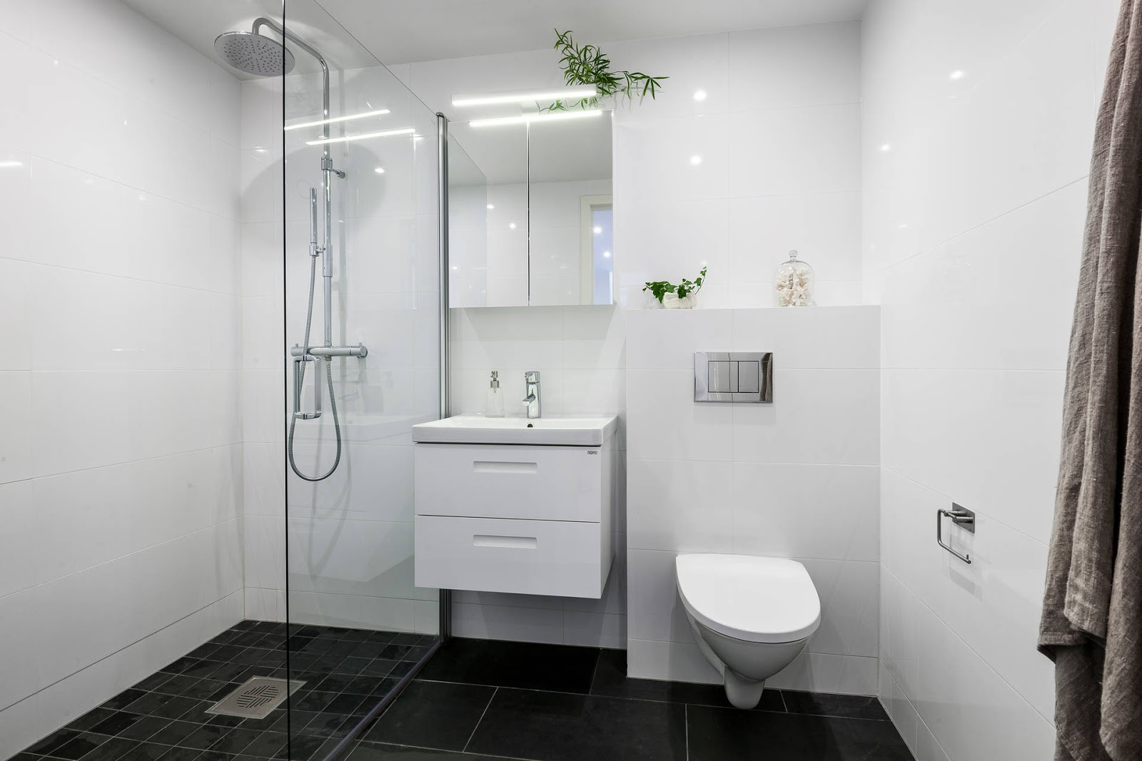 baño blanco estilo nordico white nordic decor lavabo lavamanos