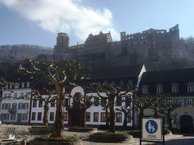 Karlsplatz Heidelberg with Castle View