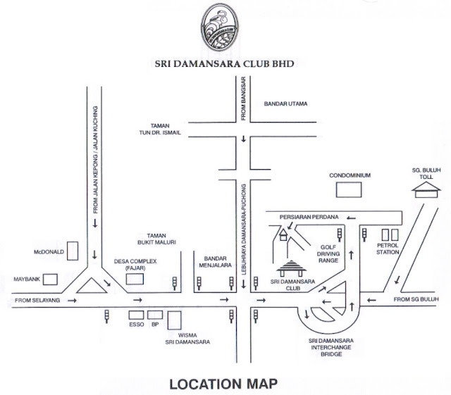 sri damansara club map