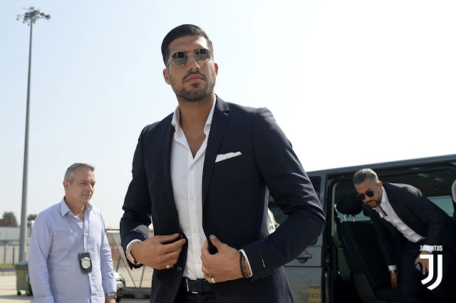 Liverpool's Emre Can arrices in Italy for his Juventus transfer