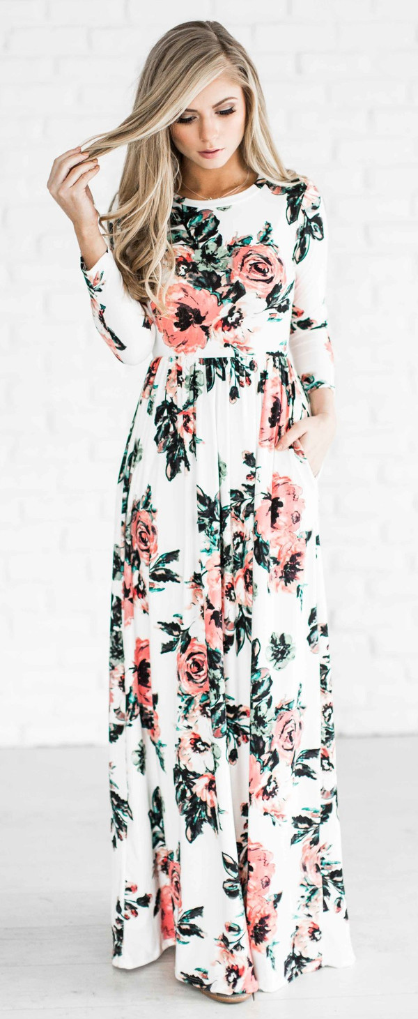 floral maxi dress: spring fashion trend