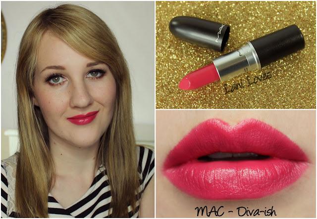 MAC Diva-ish lipstick swatch