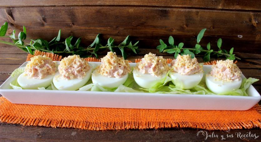Huevos Rellenos De Jamón Cocido Recetas Caseras Y Sencillas