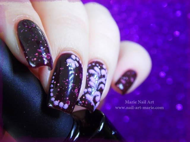 nail art thermique et sable de velours5