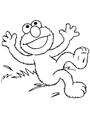 Gambar Mewarnai Elmo - 13