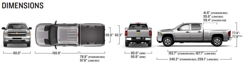 Chevrolet Silverado Dimensions 2017 Ototrends Net