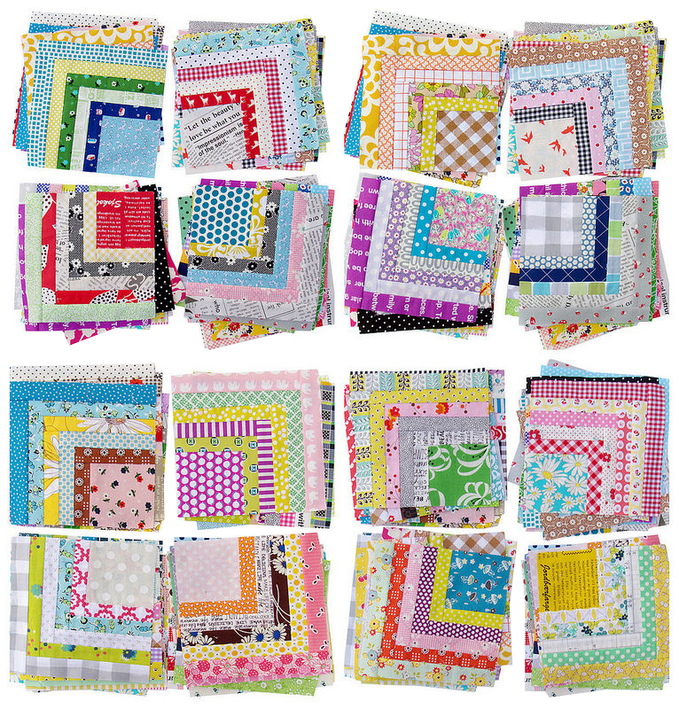 Red Pepper Quilts Scrappy Quarter Log Cabin Quilt And