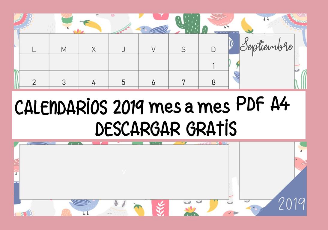 Calendario 2019 Para Imprimir Gratis Www Imagenesmy Com