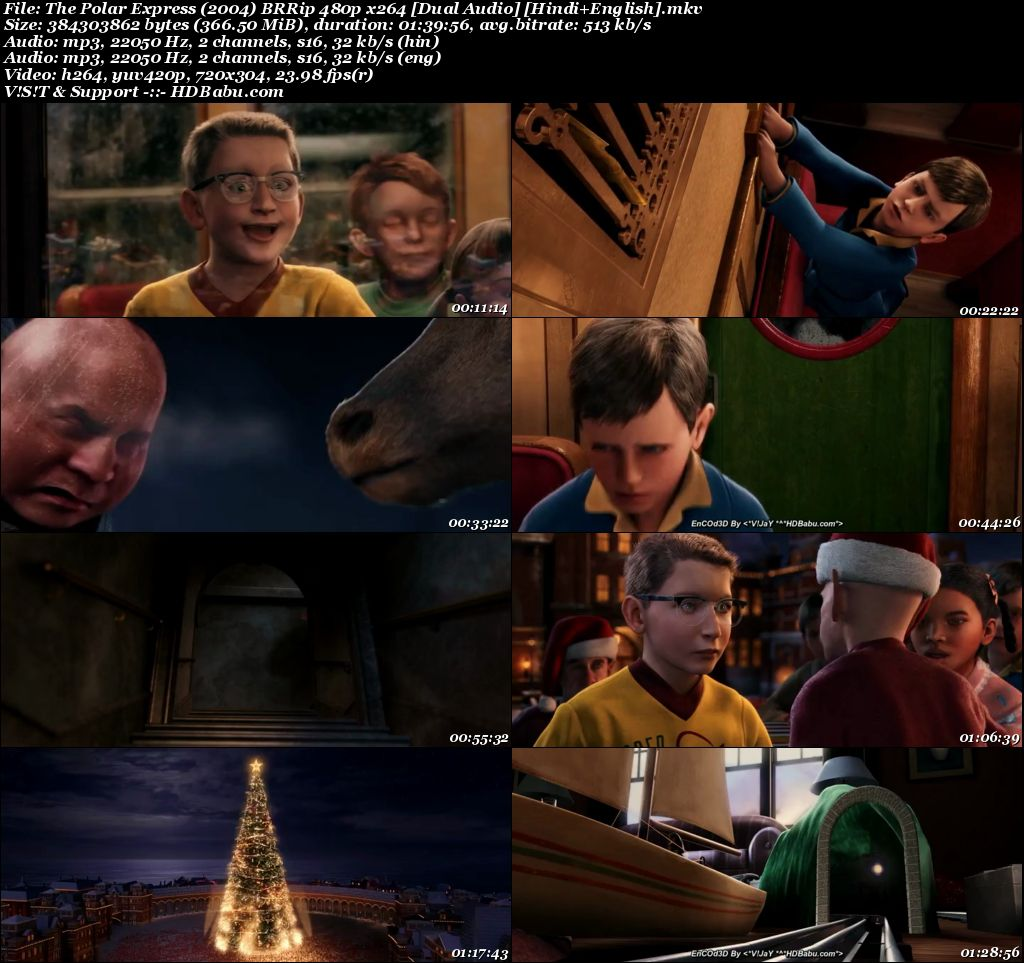 The Polar Express (2004) BRRip 480p x264 [Dual Audio] [Hindi+English] Screenshot