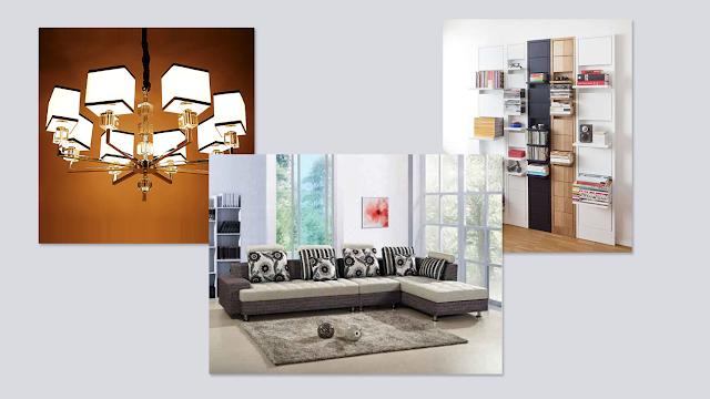 peralatan rumah tangga modern ruang tamu
