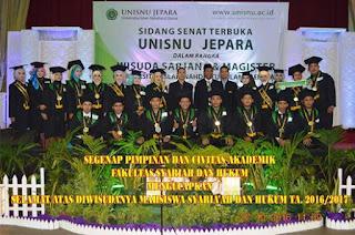 319 mahasiswa UNISNU hari ini Diwisuda.
