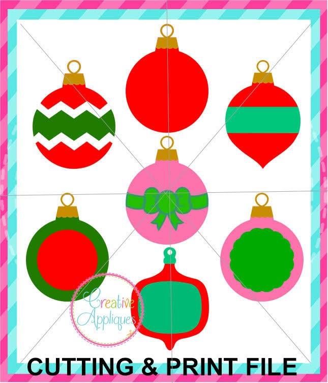 7 Free Silhouette Designs Set Christmas Ornaments Silhouette School