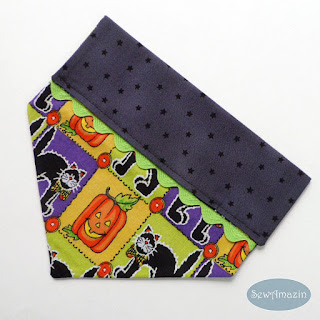 Halloween Cats and Jack-o-lanterns Over the collar Dog Bandana