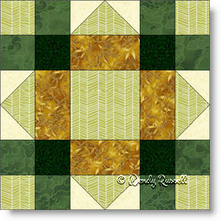Lucky Clover quilt block image © Wendy Russell