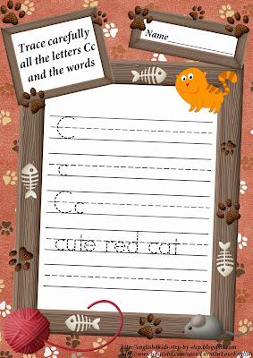 letter c tracing worksheet