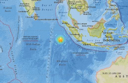 Gempa Bumi Berukuran 7.9 Magnitud Di Pesisir Barat Sumatra, Amaran Tsunami Di Keluarkan