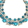 QIYUN.Z Luxury Drop Oval Rhinestone Bling Sparking Gold Tone Chain Bib Choker Necklace @ $1.91 + $2.99 shipping | Gemsandjewels