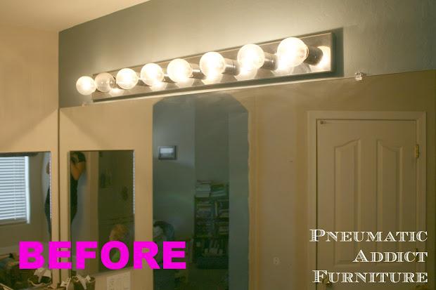 Bathroom Upgrade Part 1 Splitting Vanity Light