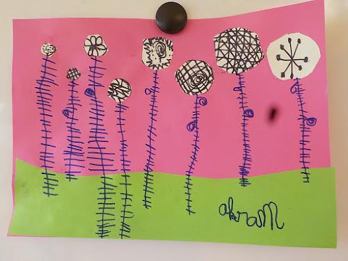 Fleurs du printemps - graphisme et découpage en maternelle