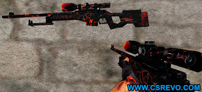 Skin AWP - Fire - HD CS 1.6, awp. wp