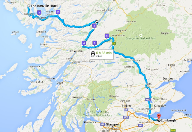 Itinerary for day 3 of Rabbies' Tour of Scotland's Western Highlands