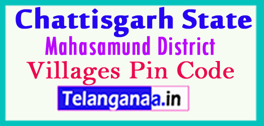 Mahasamund District Pin Codes in Chattisgarh State