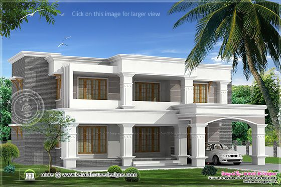 3455 sq-ft villa design 1