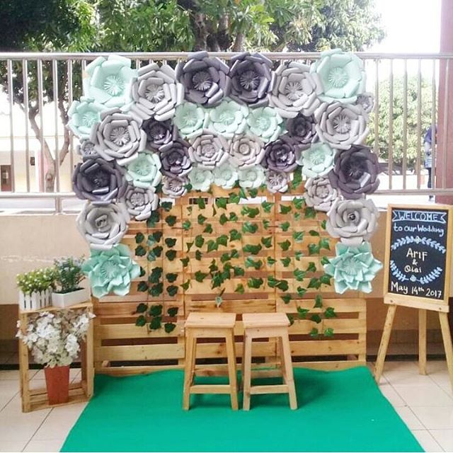 Flower Background Photobooth Dekorasi