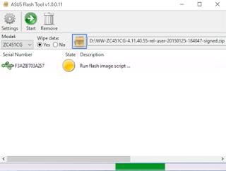 Cara Flash atau Mengatasi Bootloop Asus Zenfone C