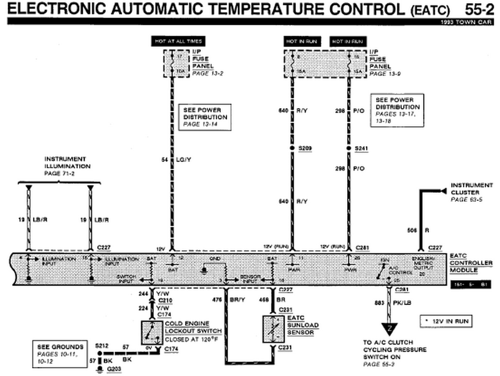 1993 lincoln town car wiring schematic 1993 lincoln town car eatc wiring diagram | auto wiring ... 1993 lincoln town car wiring diagram
