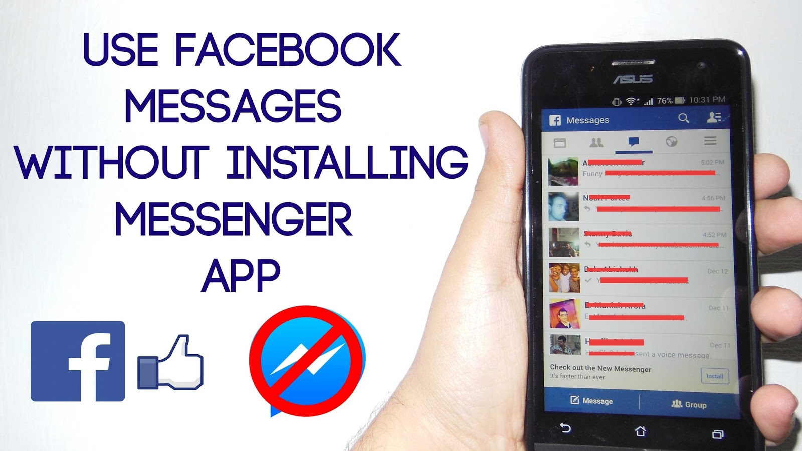 Phone Download Facebook On Android Phone trick how to chat on facebook without downloading messenger app in android