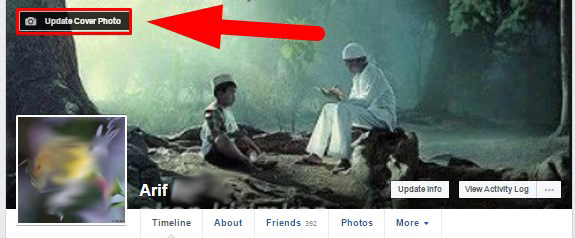 how to update cover photo on facebook with caption