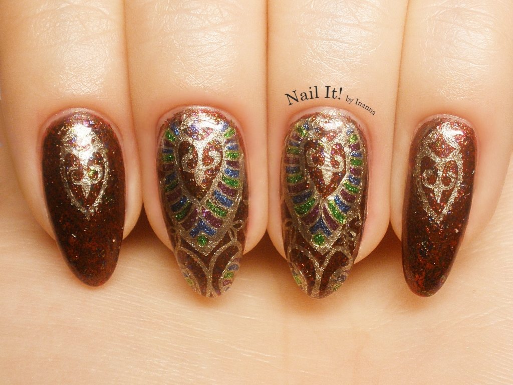 "Anna Gorelova ""47 November"" by Dance Legend - stamping stickers nail art"