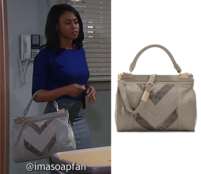 2c2b9cdaf7f0ec Jordan Ashford s Grey Leather Satchel - General Hospital