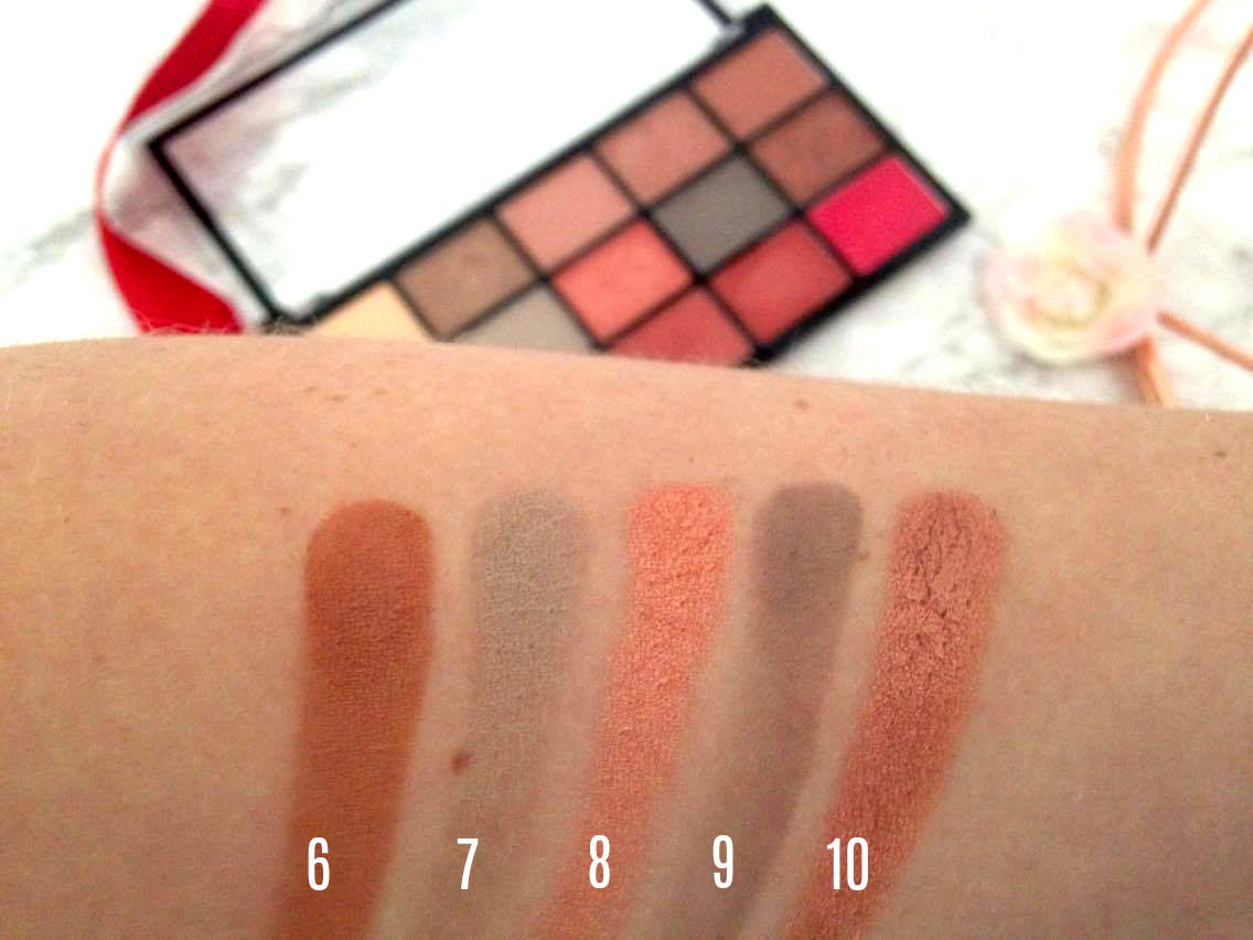 MUA Fire Vixen Eyeshadow Palette Swatches