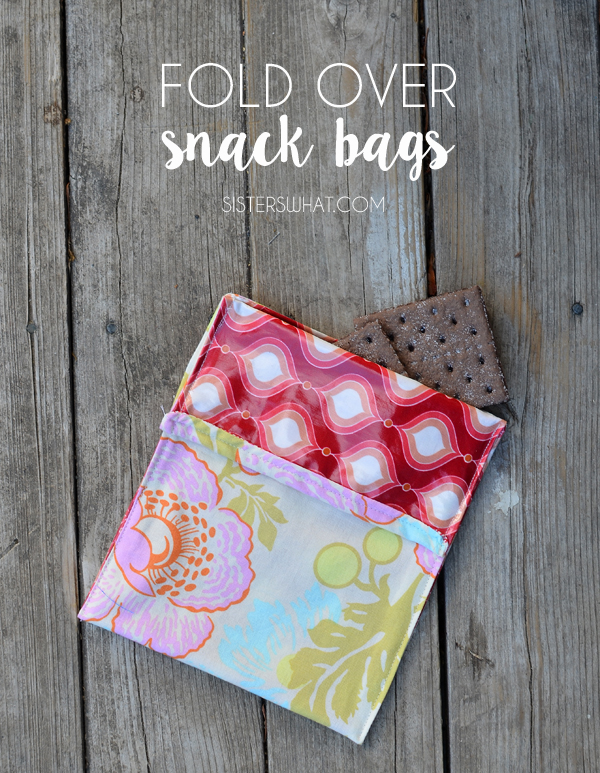 Fold over snack bags tutorial